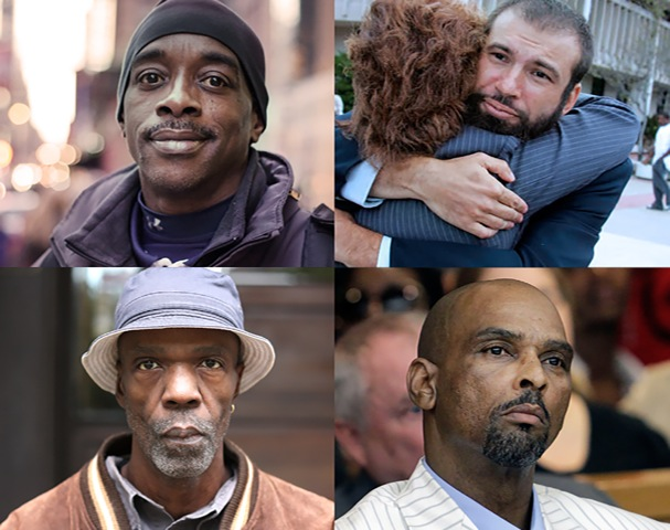 Alan Newton, Jeffrey Deskovic, Drew Whitley, and Johnny Pinchback were all exonerated in the past decade. Credit: NewsHour